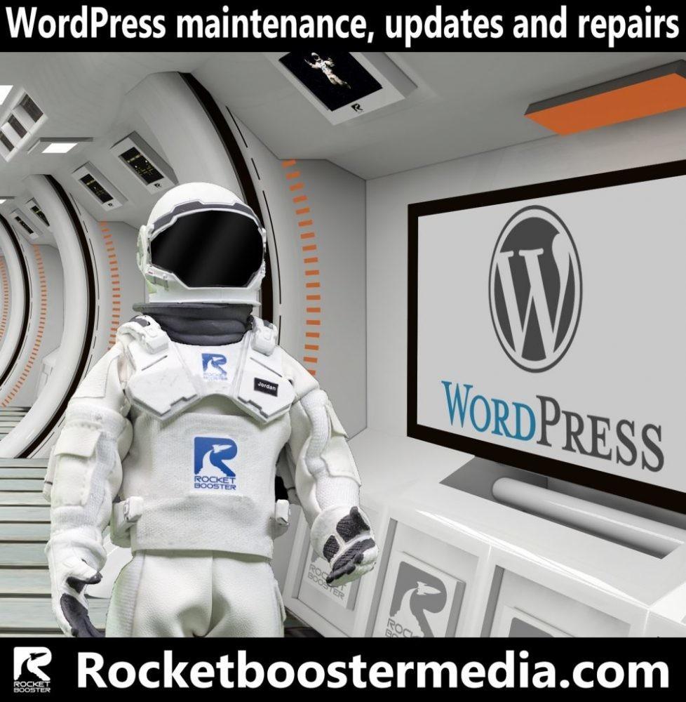WordPress maintenance, updates and repairs
